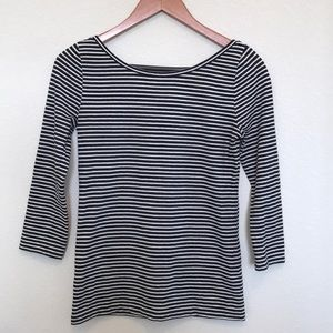 J.Crew ballet scoop back striped tee